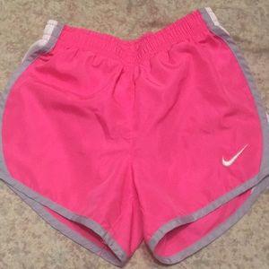 Nike Dri-Fit pink silver white girls shorts size 6